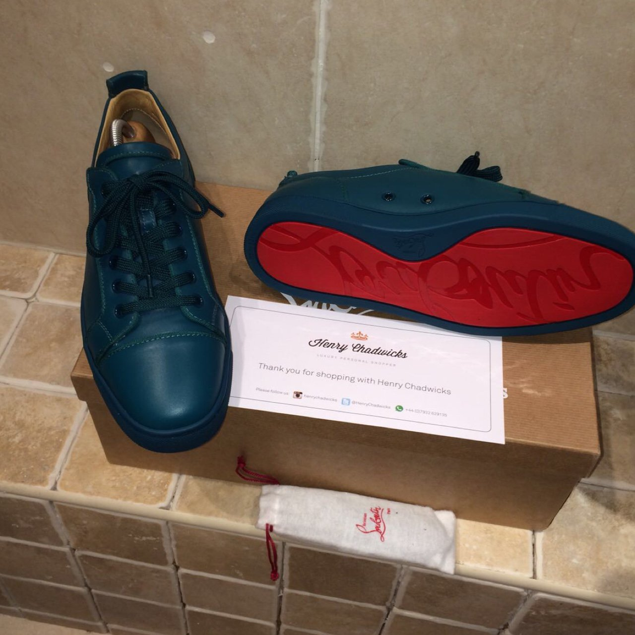 941df7c4672 Christian Louboutin men s trainers worn once indoors the is - Depop