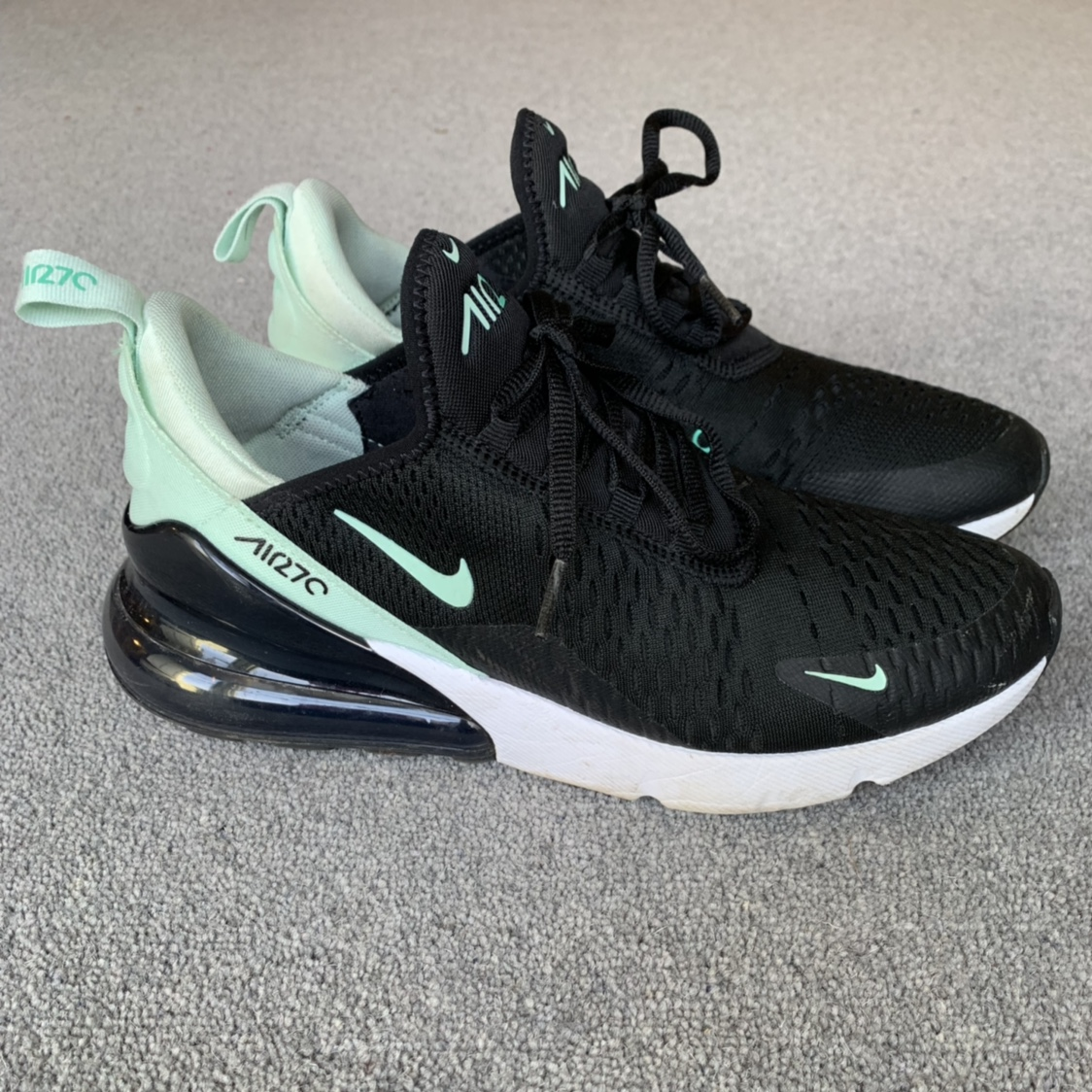 newest 8a249 3f39b NEED TO SELL! Nike Air Max 270 - Black & Mint... - Depop
