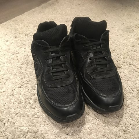 066eda8cefa 100% authentic Chanel all black trainers. All wear shown in - Depop