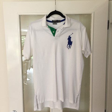 4d51eaa1 @_alexhibbins_. last year. Stockport, United Kingdom. Polo Ralph Lauren  white polo shirt, custom fit ...