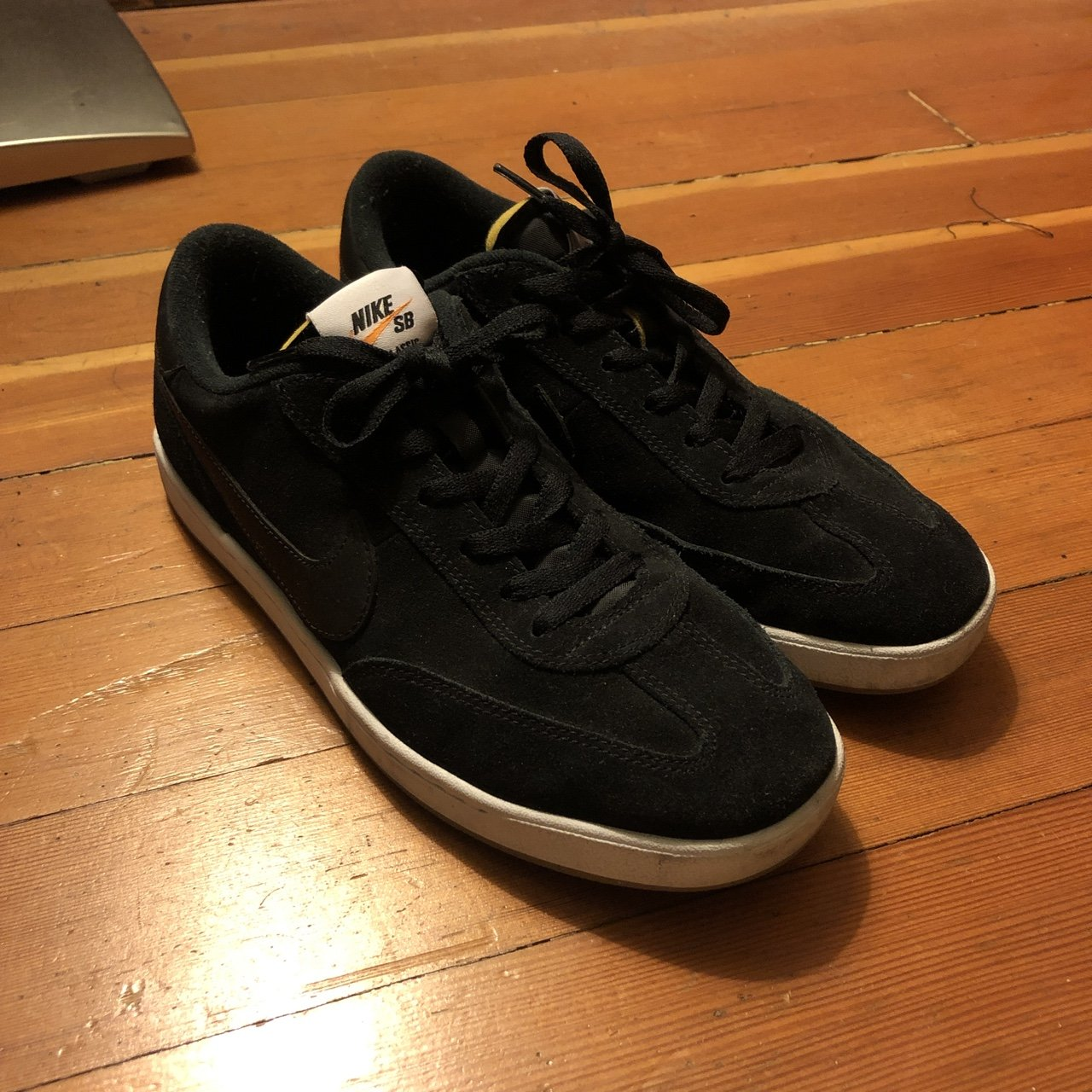 40aa3d9d0c35f1 Selling these super dope Nike SB fc classic shoes in a black - Depop
