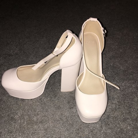 596f12db1e6b ASOS. Platform heels. Baby pink nude. Never worn!! Perfect - Depop