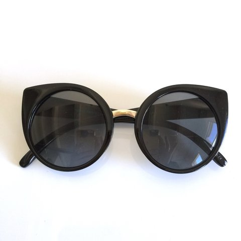 8a8d006df78 Oversized cat eye sunglasses. Five different colors at my is - Depop