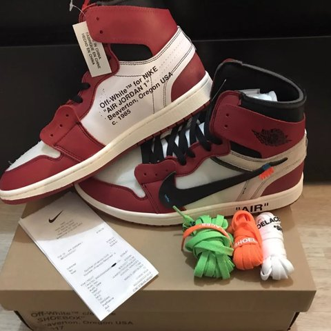 ccdb00aed7c @tmmyhilfiger. 2 years ago. Baltimore, United States. AUTHENTIC Off White X  Nike Air Jordan 1 Chicago Retro High OG ...