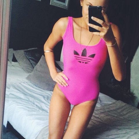 3662e4742f @jordanmccabe. 4 years ago. County Durham DL15, UK. Unreal bright pink  vintage Adidas swimsuit / bodysuit / body / leotard 💕 low back ...