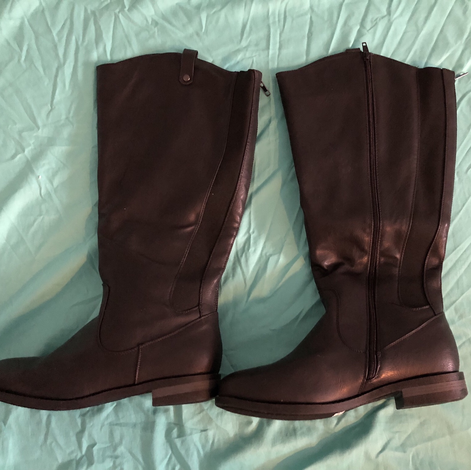 1850d8bf242 Torrid size 12W riding boots. Side zipper entry.... - Depop