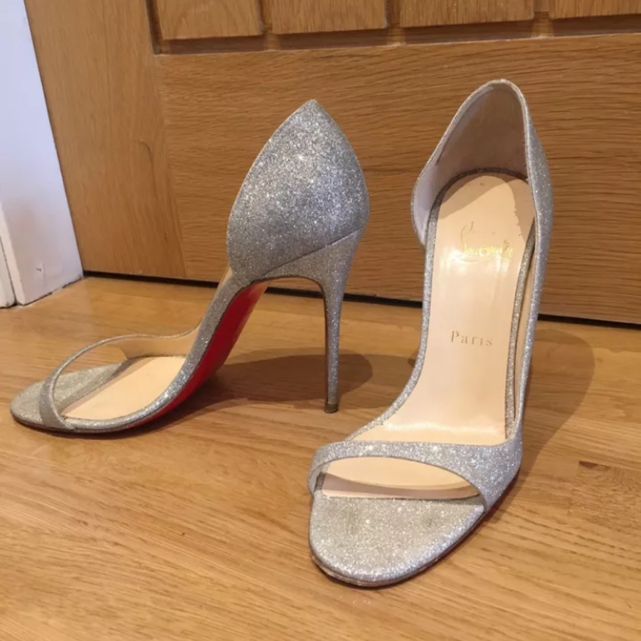 uk availability 49c2b 4c308 Beautiful Christian Louboutin 'Toboggan' evening... - Depop