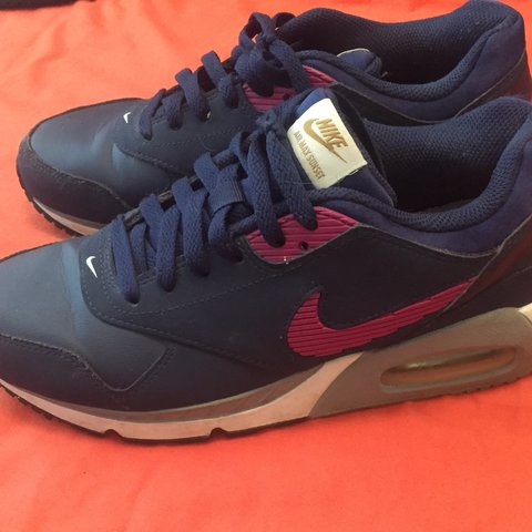 e3159b67f8d0 Women s Nike Air Max. Navy with Pink and Grey. Worn only a - Depop