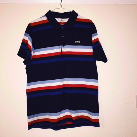 cd613d3e0 Lacoste sport striped polo. Very good condition. Size Rrp - Depop
