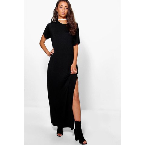 074d3bc138e24 Boohoo sheer maxi dress. The modeled photo is an example of - Depop