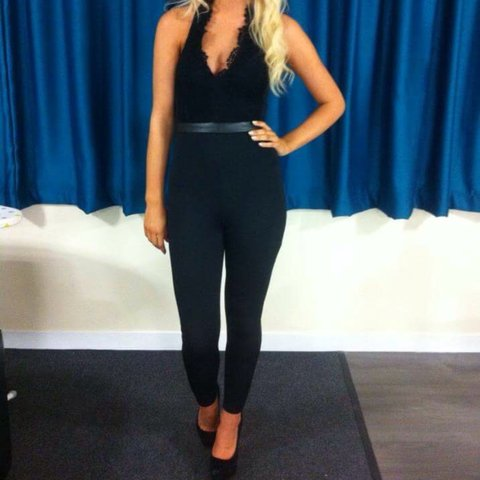 91cdb2b96332 Missguided jumpsuit size 8. Only worn once and somehow to a - Depop