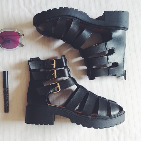 29f676532c9 Gladiator platform sandals by Bamboo. Final price! If is to - Depop