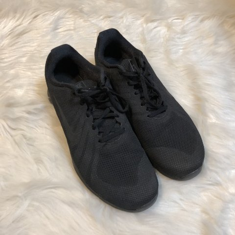 All black Nike training shoes. Super comfortable and in good - Depop bd15f3589