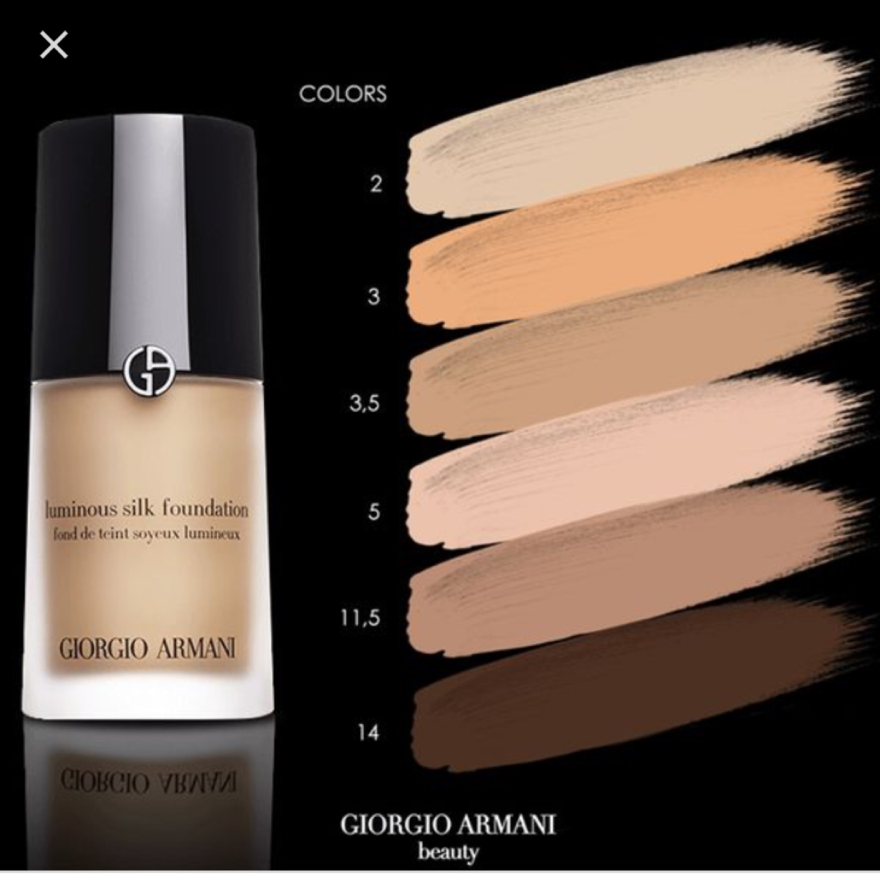 Armani Luminous Silk Foundation Shade 5 Less Than Depop