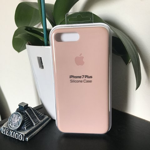 on sale 5e1ac 7aaf0 IPhone 7 Plus Silicone Case | Pink Sand | I've used... - Depop