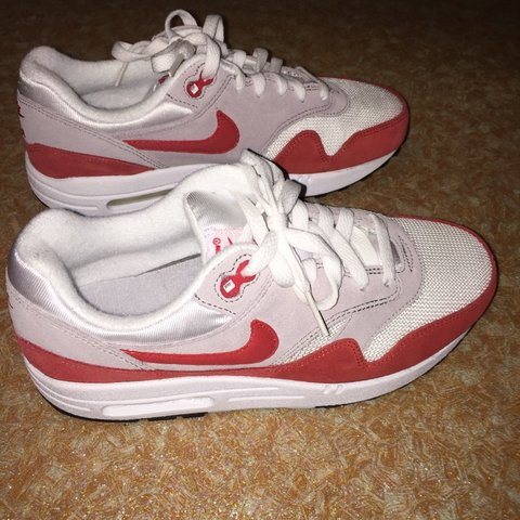 nike air max 1 rood wit