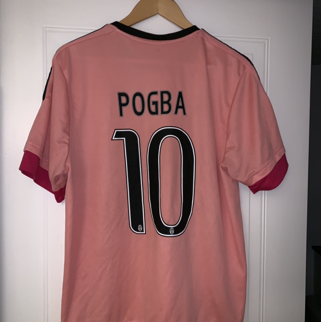 competitive price 3aaf3 d1e7f Pink Pogba Juventus shirt. Only one I can see on the... - Depop