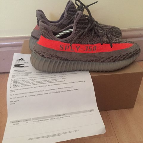 75ce9a75bac Adidas yeezy 350 beluga v2 uk 10.5 used 100% authentic. Feel - Depop