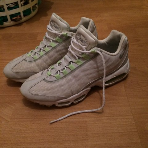 huge selection of 4f61f 37596  crepegittyy. 3 years ago. London, UK. Nike air max 95 white premium tape  glow in the dark ...