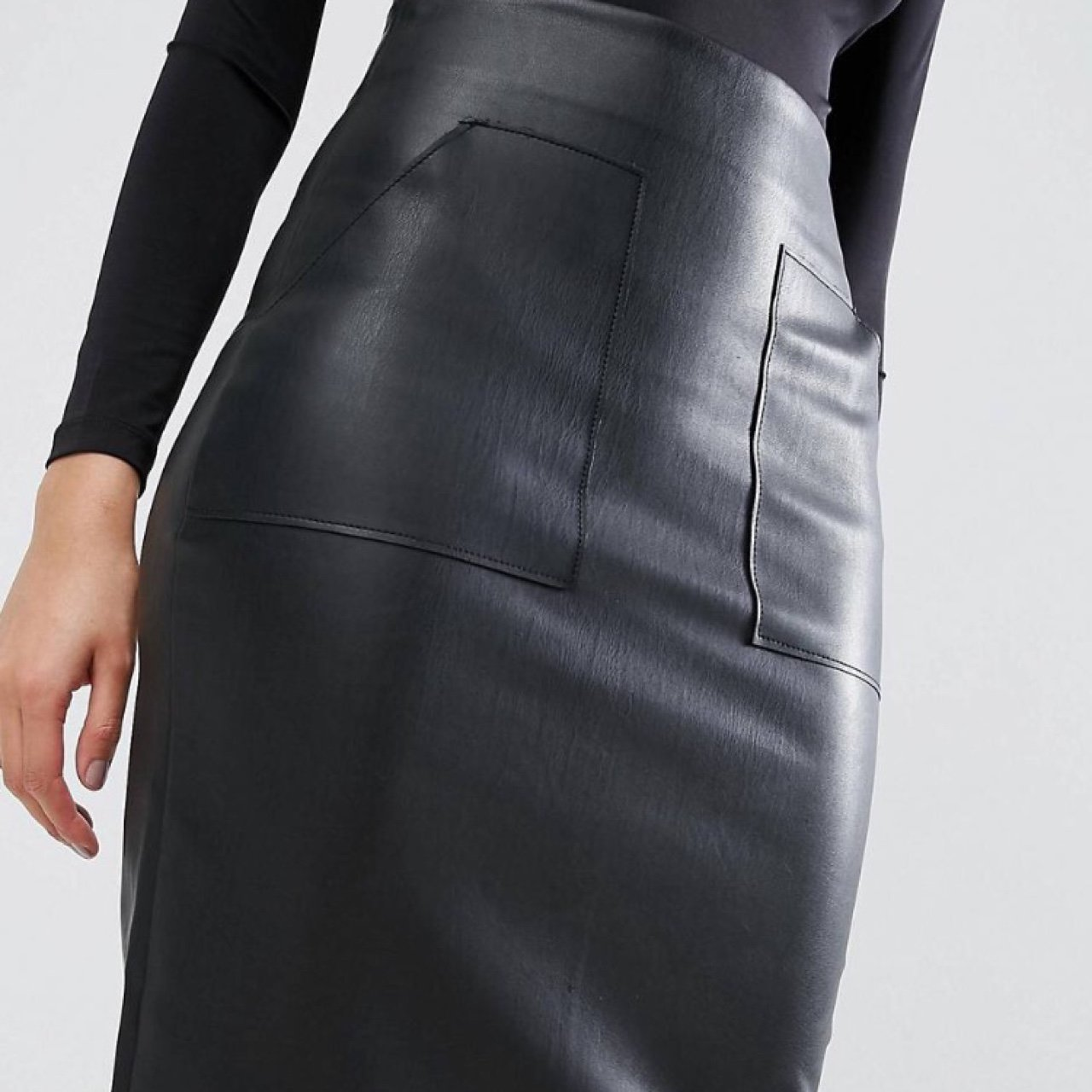 8d1d520353 @shaz6. 2 years ago. West Malling, United Kingdom. PU pencil skirt from ASOS  ...