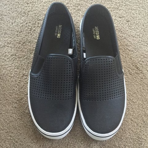 e081863343 Leather slip on shoes from target. Small holes all over