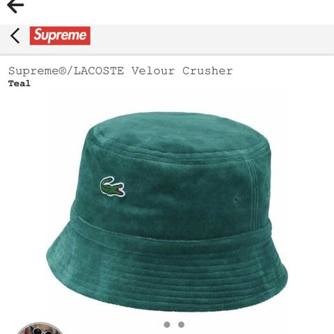 Supreme Lacoste bucket hat! Size ML on ticket  053f01c303c0
