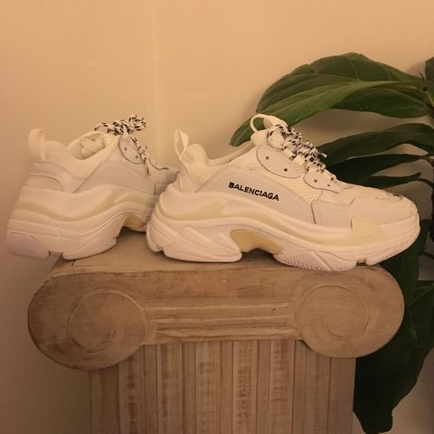 c92f83c8836f balenciaga triple s. fit like a women s size 6. never been a - Depop