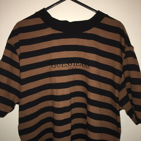 b81d4060390e @aadxl. 2 years ago. Manchester, United Kingdom. Guess Jeans USA striped tee
