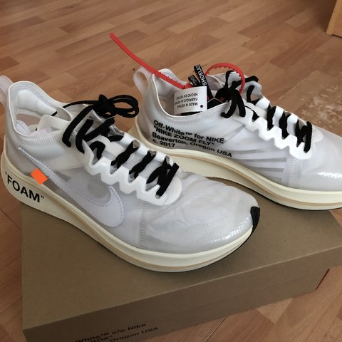 Off-White x Nike Zoom Vaporfly - message for  nike - Depop 7a79e7717