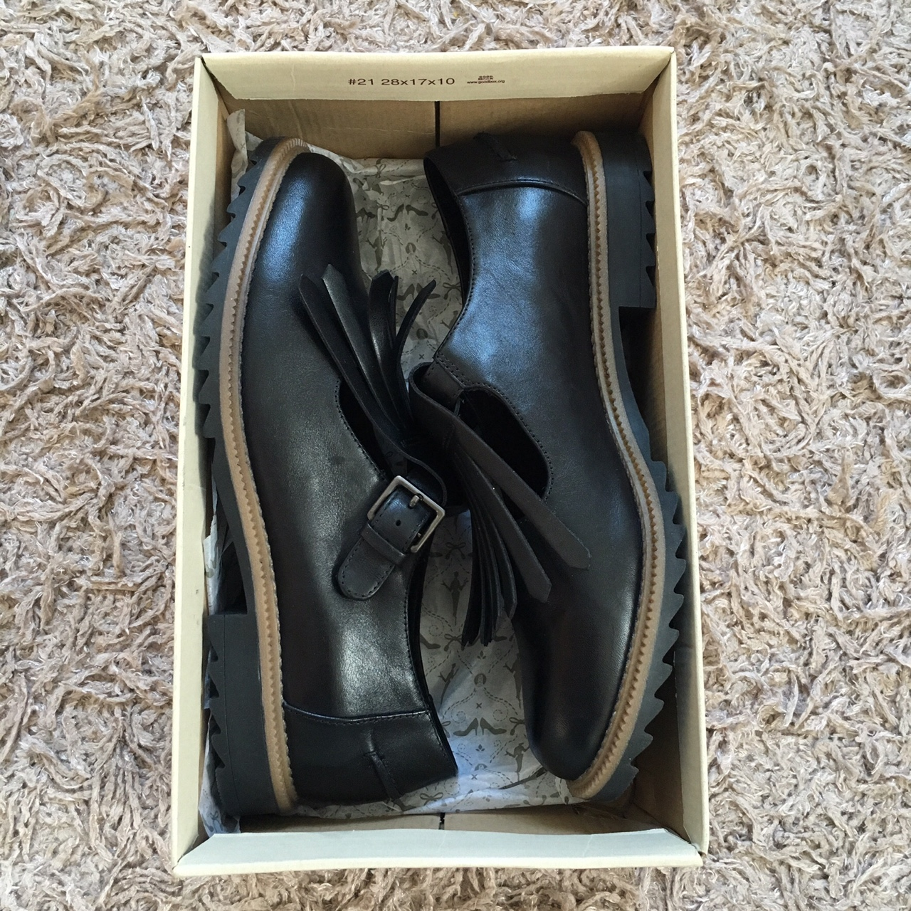 Clarks Griffin Mia Black Leather Shoes