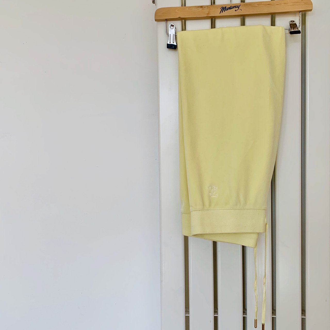 Juicy Couture Yellow Velour Tracksuit Bottoms Depop