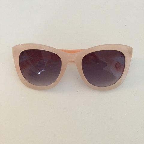 38a5ab42fb6b6 Pale pink semi transparent sunglasses from Forever21. No to - Depop