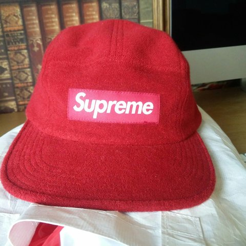 8c3151ea397 Supreme fitted Terry camp cap SS15 size small medium. 100% I - Depop