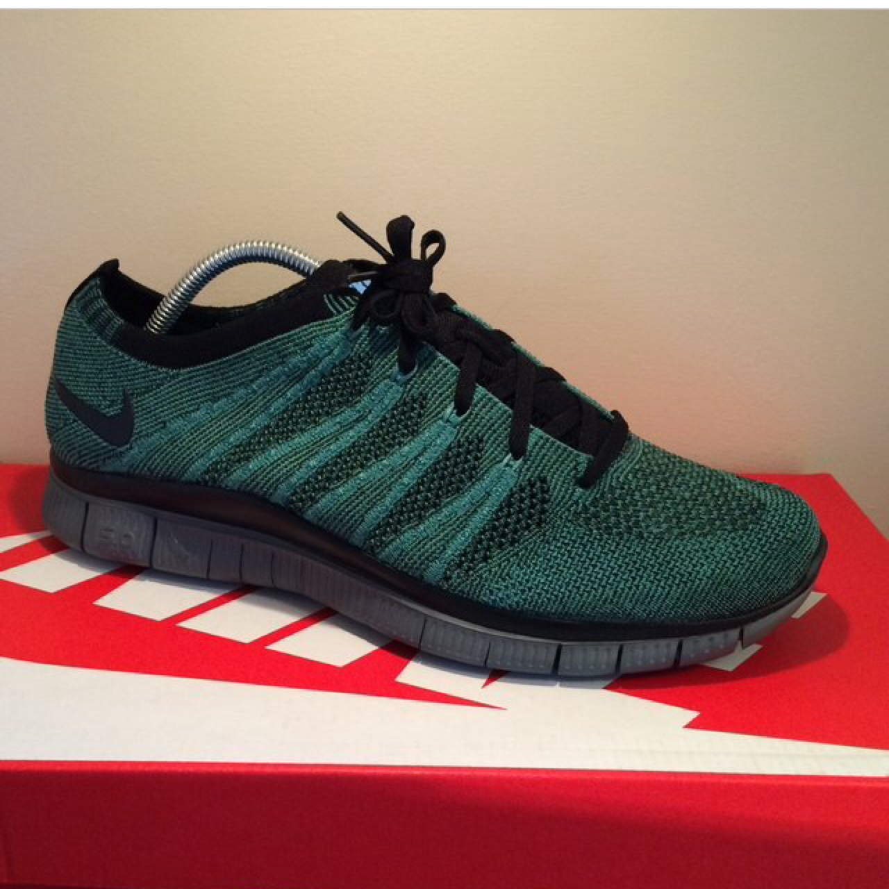 Nike free run flyknit 0.1 0.2 0.3 0.4 0.5 in a green Depop