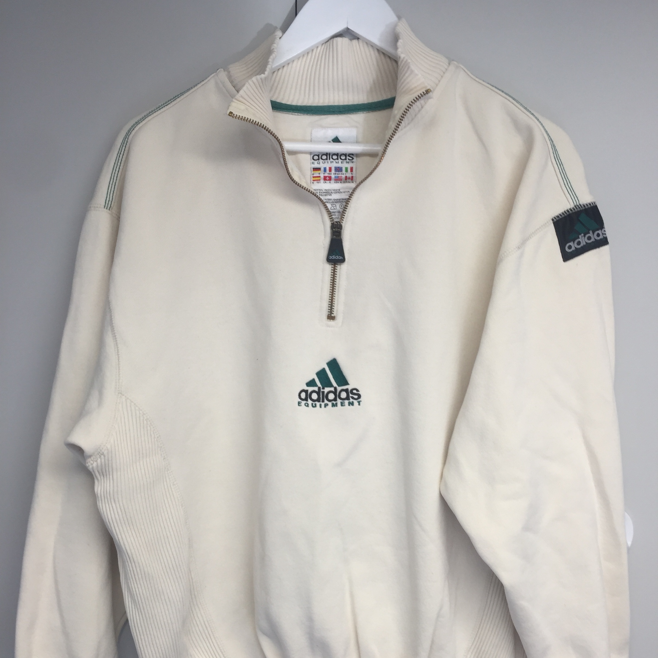 Rare vintage Adidas Equipment 14 zip Depop
