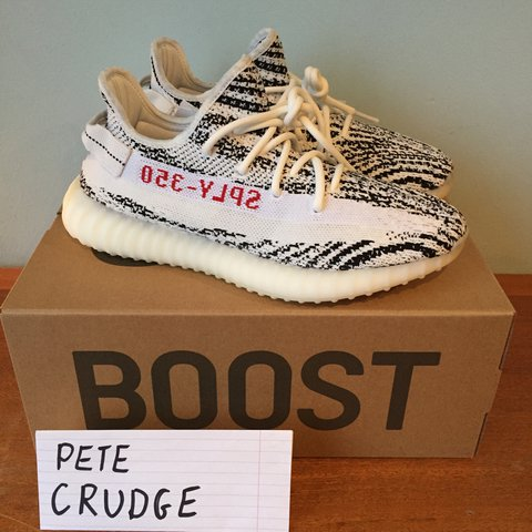 ... new arrivals adidas yeezy boost 350 v2 zebra uk 8.5 condition posted  depop fed8a c043b 92f725532
