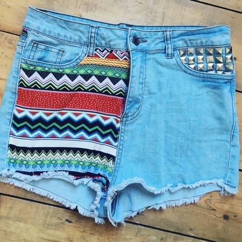 b97114832f @ktbenson. 2 years ago. Aberdeen, UK. Missguided patterned denim shorts ...