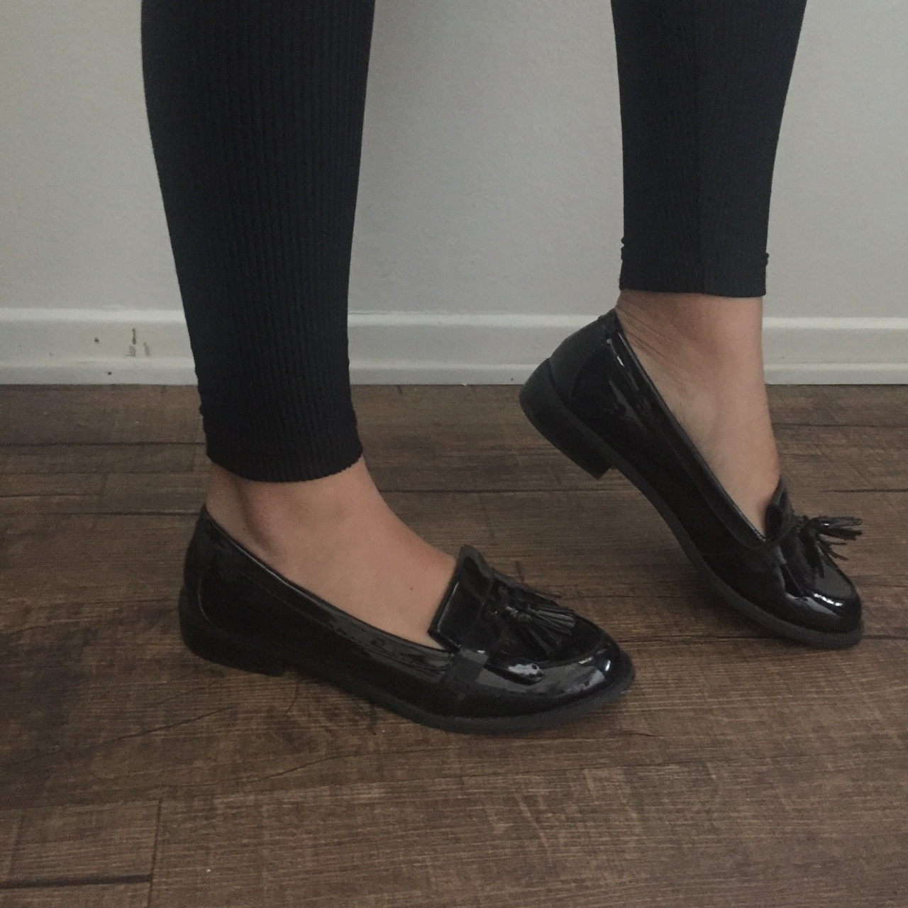 Patent leather black loafers ⚫️ These