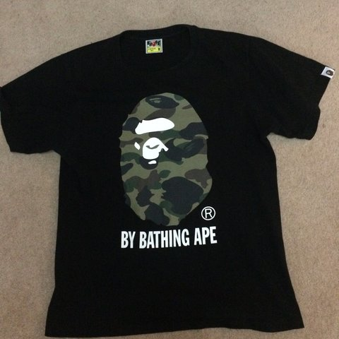 f349e7b37 @ethan8642. 3 years ago. Guildford, UK. Bape camo head tee 🔥 fits size  medium TTS 8/10 condition message me if ...