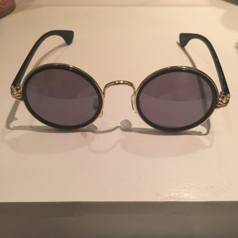90ec2926c4 Circle black sunglasses. Don t don t suit me so selling. on - Depop