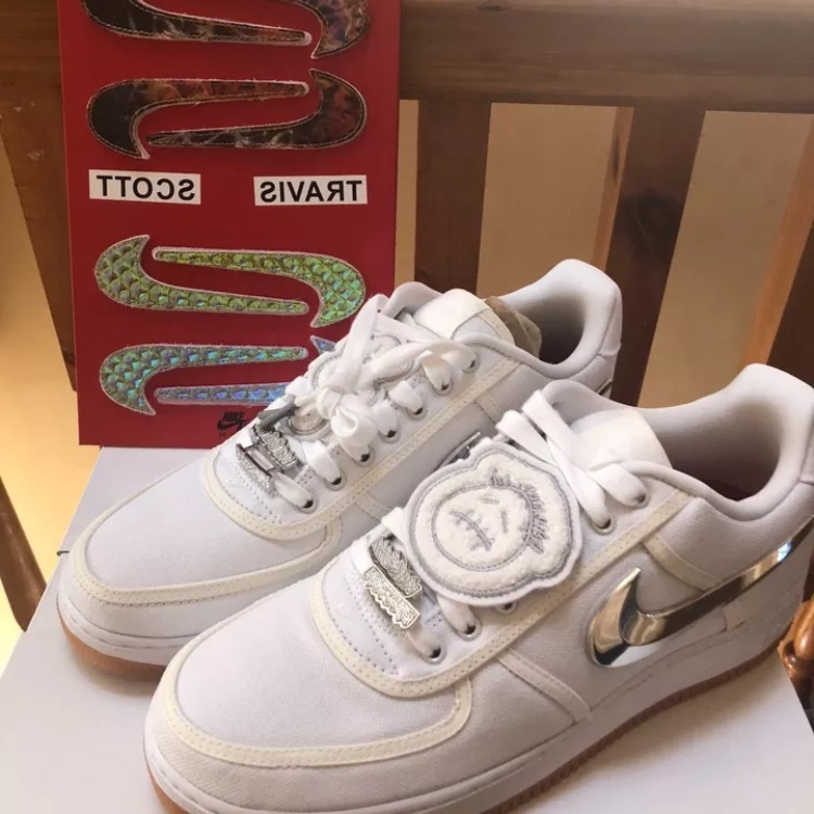 sports shoes 8a5e6 5d623 Nike Air Force One Travis Scott AF1 DSWT 100%... - Depop