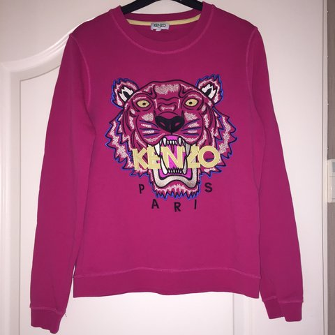 91b250b9 100% Genuine bright pink Kenzo jumper worn a couple of times - Depop