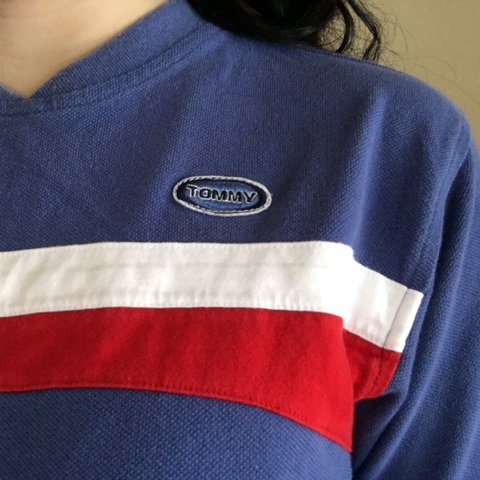 4f7aa10a7 @m8gan. 4 months ago. Milwaukee, United States. vintage tommy hilfiger shirt!  great condition! women's size medium. tags: red white blue pocket ...