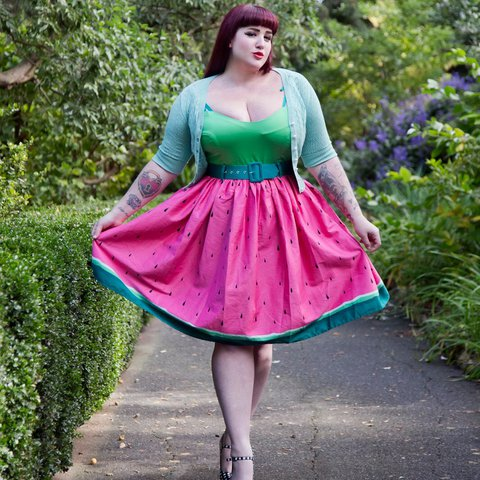 9375a062743a2 @edengasson. last year. Brighton, United Kingdom. Collectif Watermelon dress .
