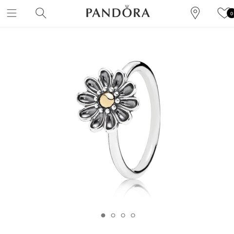 0defb7937 ... sale pandora statement flower two tone ring 14ct gold and in a depop  eb45b 3cd15