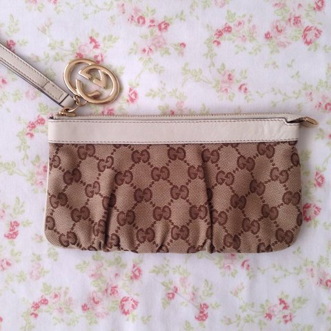 fc76afd52 @han231. 3 years ago. East Sussex, UK. Gucci monogram clutch bag, genuine  with serial ...