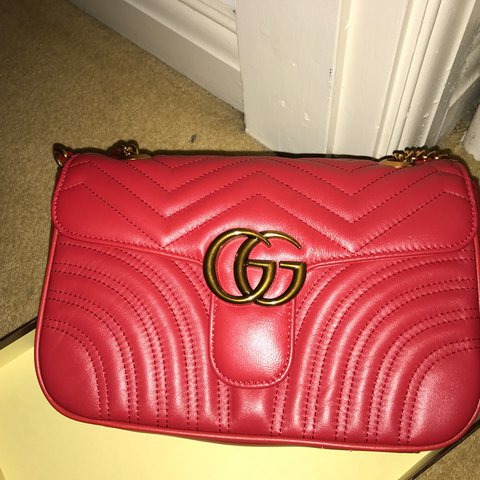 b3bce769f725 Gucci Marmont Matelasse for sale. Real leather, bag is a GG - Depop