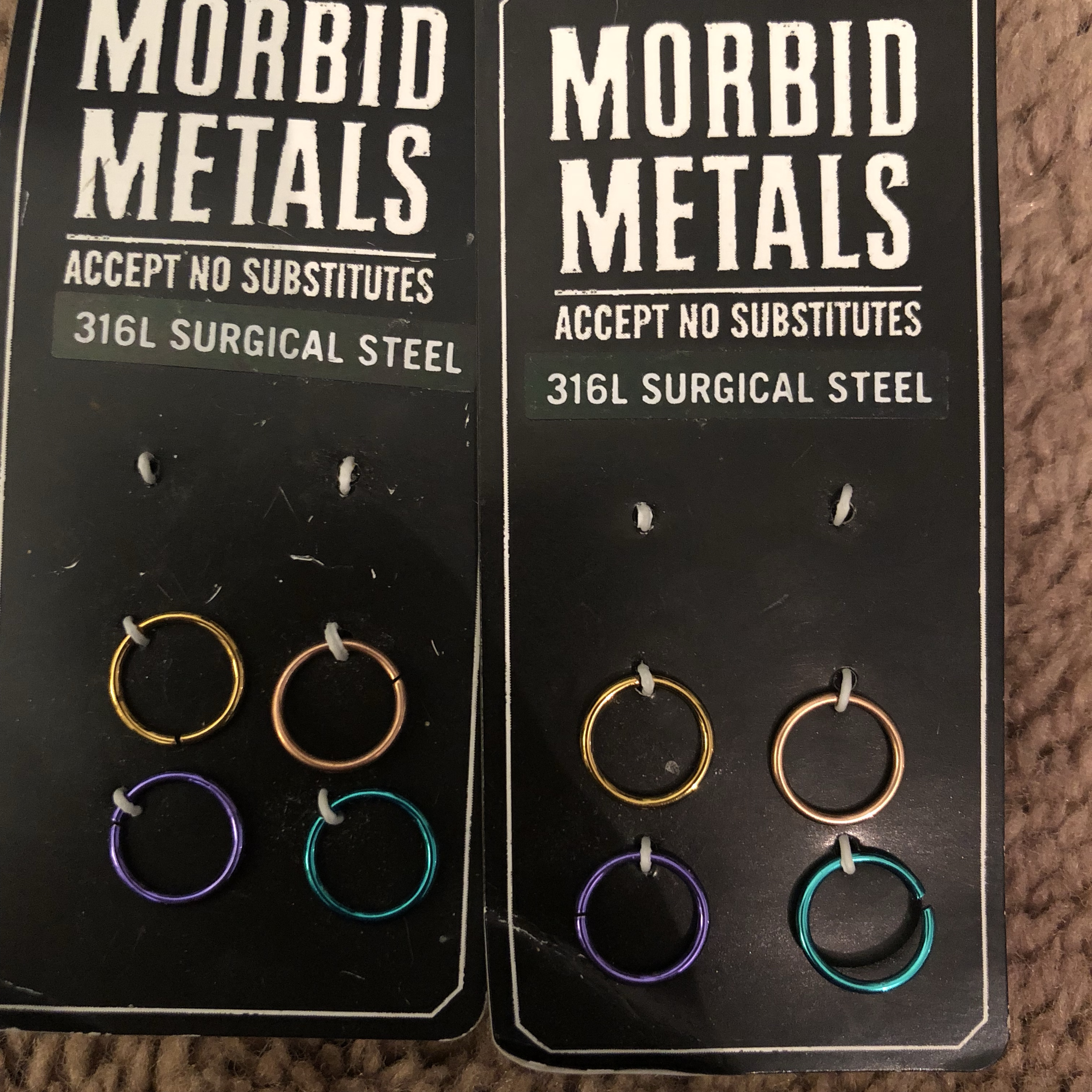 Morbid Metals Nose Hoops 18g Won T Wear Any Other Depop