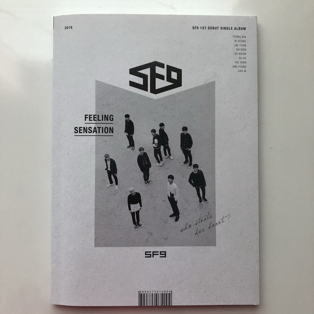 sf9 feeling sensation new cd has only been used not sf9 depop