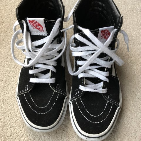 Vans sk8 hi black white old skool size 5 Eu 38 worn 3 4 in - Depop 42b39c43e